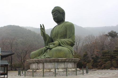 cheonan taejo mountain bronze amitabha statue