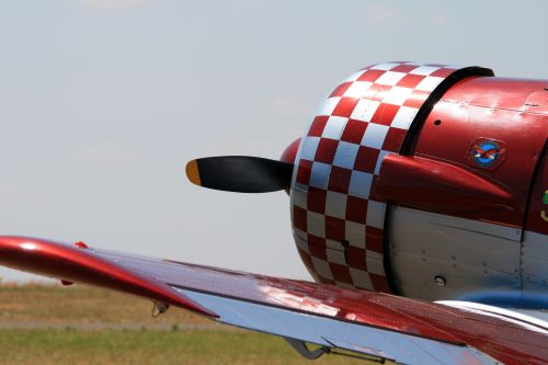 Chequered Cowling Of Harvard Engine