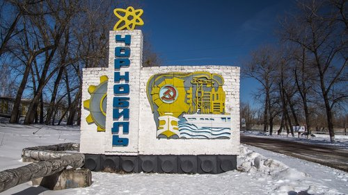 chernobyl  town sign  city sign