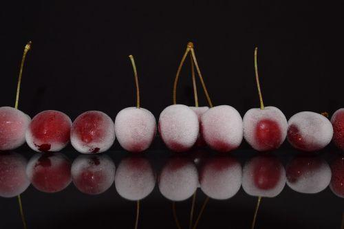 cherries red close