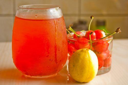 cherries juice lemon