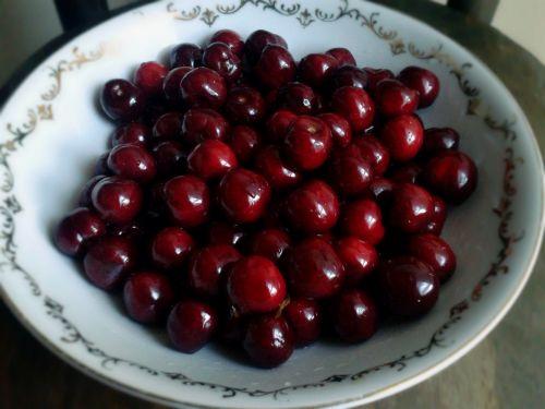cherries bowl fruit