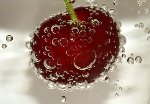 cherry blow water bubbles