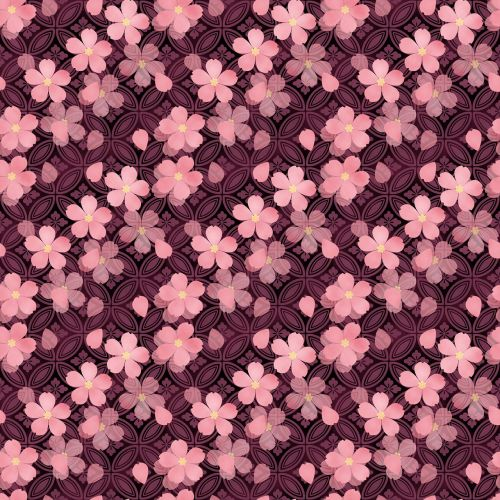 cherry blossoms japanese style pink