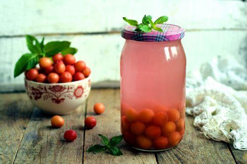 cherry plum plum in the winter billet