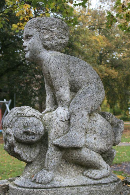 cherub park angel figure