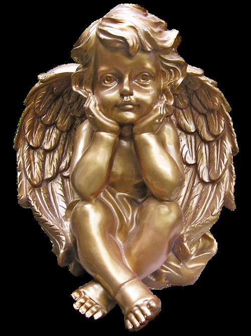 cherub golden christmas