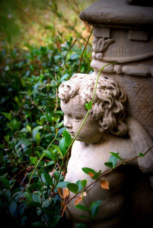 cherub statue garden