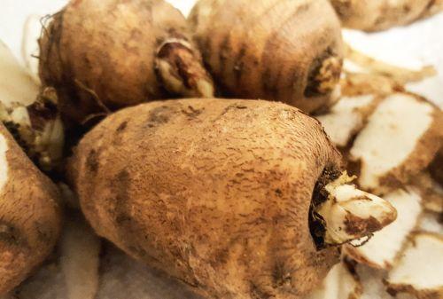 chervil tuber vegetables food
