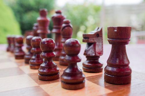 chess black pieces board