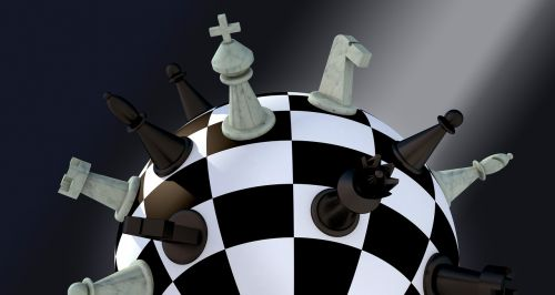 chess figures chess board