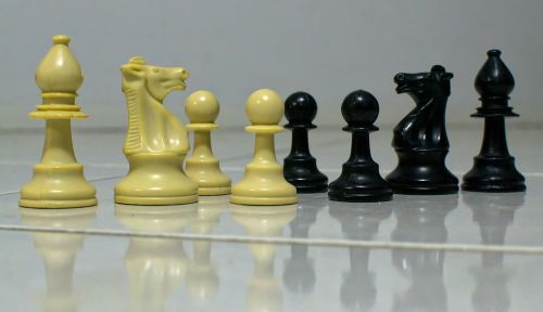 chess black white