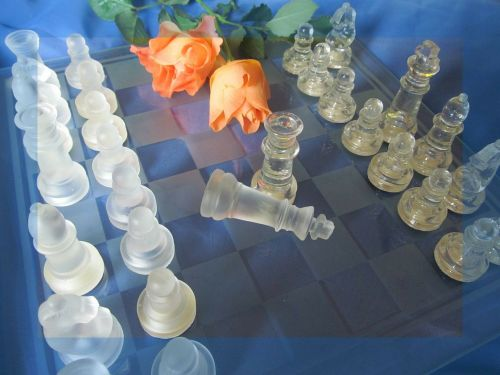 chess roses chess game