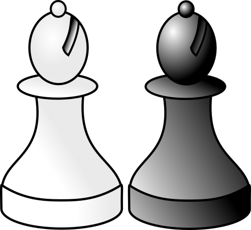 chess bishop white