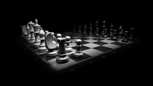 chess black white chess pieces