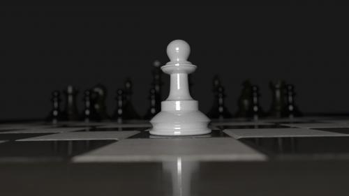 chess pawn alone