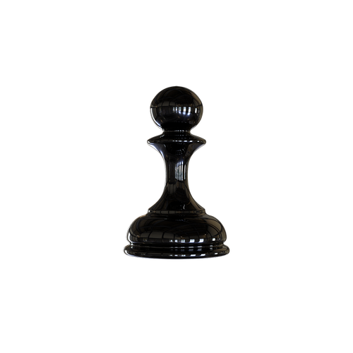 chess  the figure of the pawn is black  checkerboard