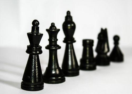 chess figures black