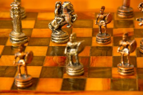 chess figurines checkerboard