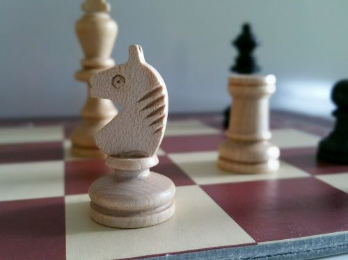 chess wooden figures game characters