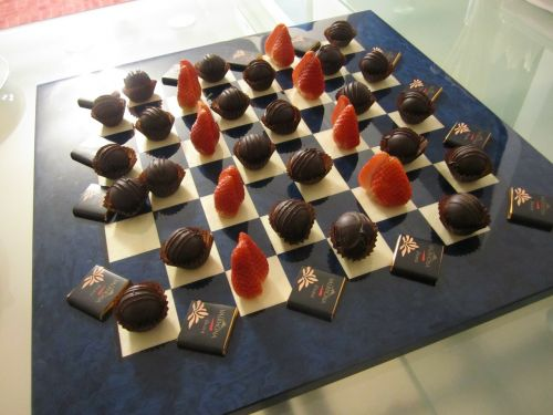 chess board chocolate gourmet