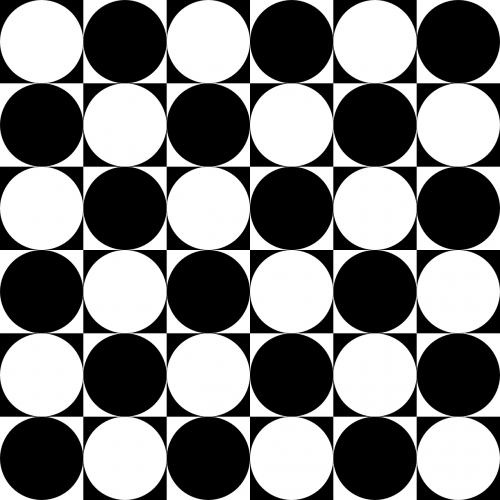 chessboard circles inside