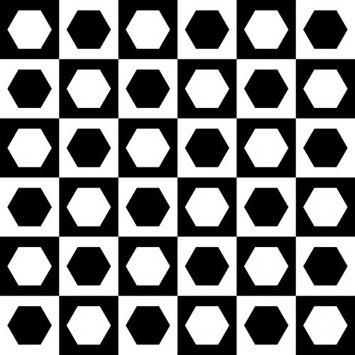chessboard hexagons squares