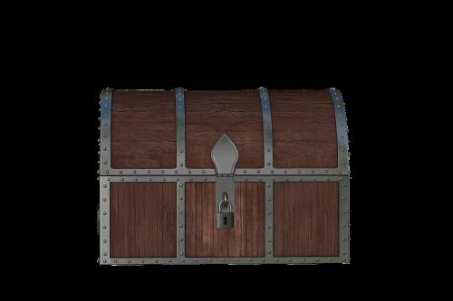 chest treasure wood