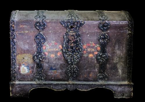 chest old ironwork