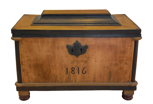 chest wood iron