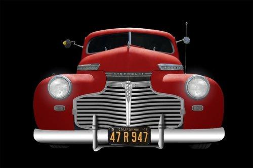 chevrolet  1941  red