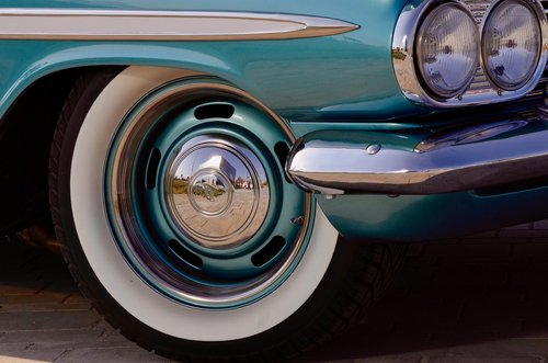 chevrolet  whitewall tires  spotlight