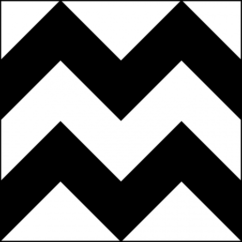 chevron black and white zigzag