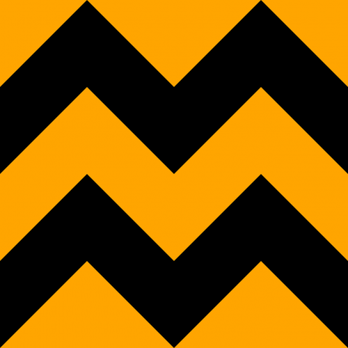 chevron black orange