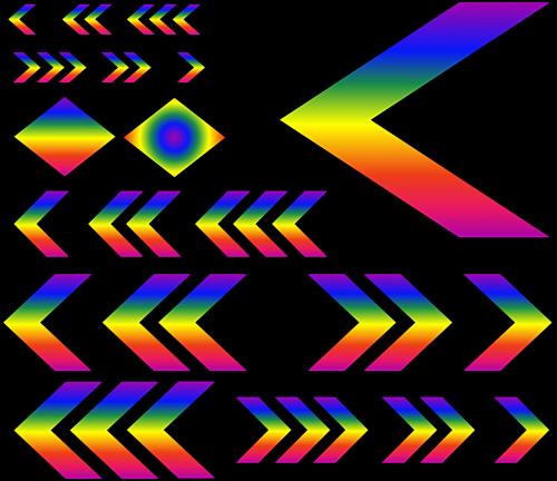 chevrons rainbow gradient