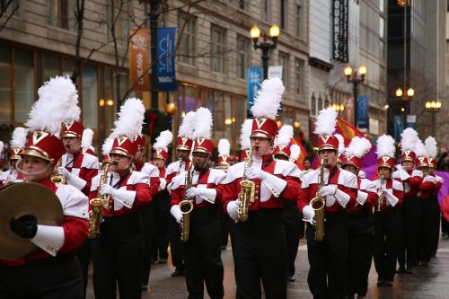 marching band chicago thanksgiving