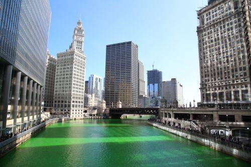 chicago chicago river st patrick's day