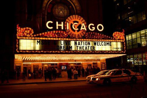 chicago theater chicago night