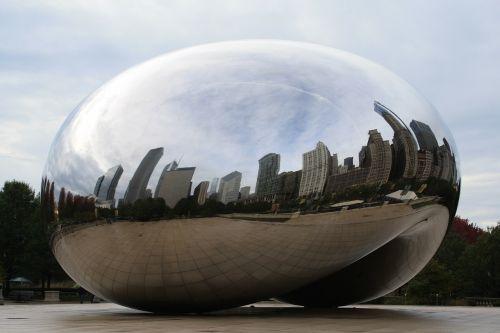 chicago bean day skyline