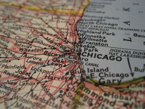 chicago map close-up