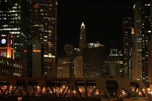 chicago chicago at night chicago river