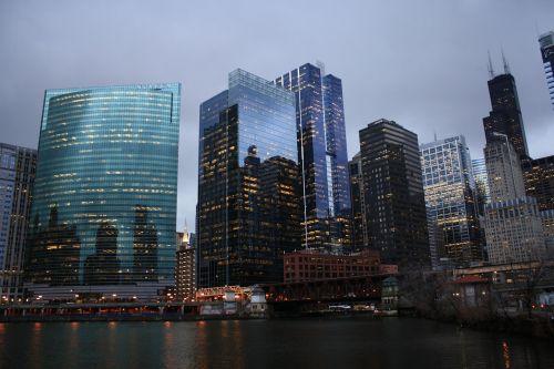 skyline chicago city