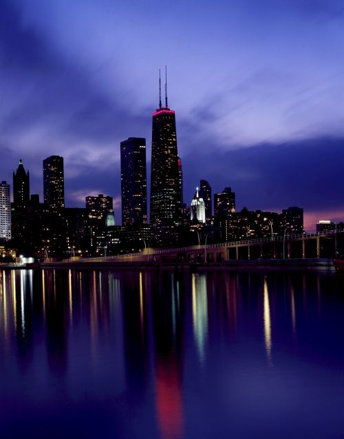 Chicago Skyline Dusk View