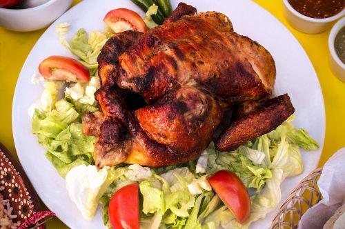chicken roasting food