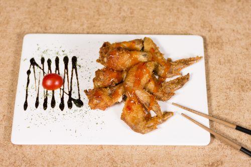 chicken fast food chopsticks