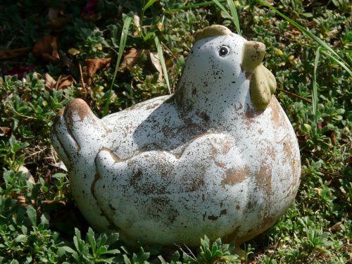 chicken garden figure