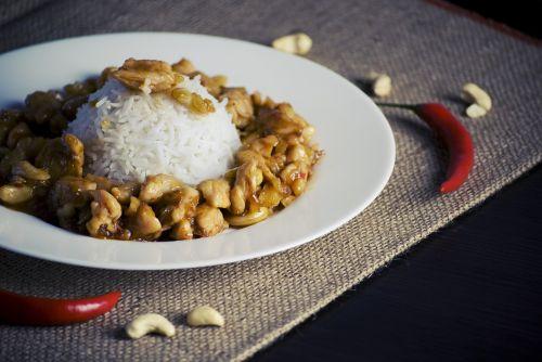 chicken rice cashews
