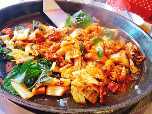 chicken chops chuncheon chicken ribs food