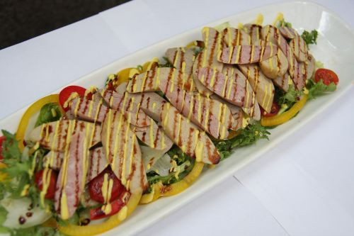 chicken salad cooking fusion cuisine