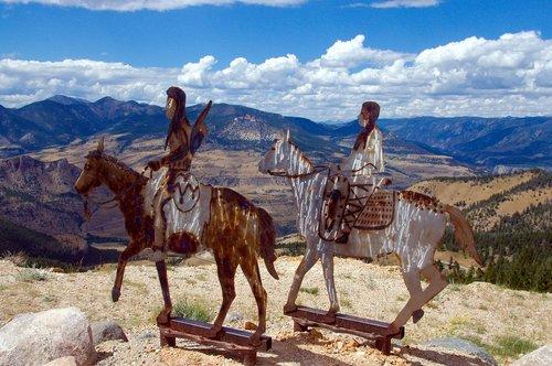 chief joseph highway  metal  sculpture